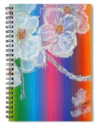 Almond Flowers On Spectrum Spiral Notebook