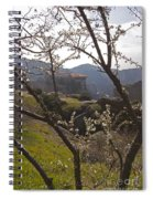 Almond Tree And Monastery   #9815 Spiral Notebook