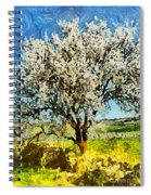 Almond Tree Spiral Notebook