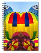 Almost Inflated Hot Air Balloons Mirror Image Spiral Notebook