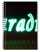 Almost Paradise Neon Sign Spiral Notebook