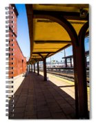 Alone At The Station Spiral Notebook