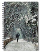 Alone In The  Winter Spiral Notebook