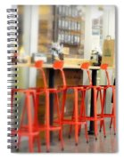 Alone On The Stool Spiral Notebook