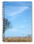 Alone Tree In The Reeds Spiral Notebook