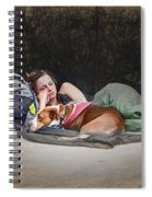 Alone With Her Dog Spiral Notebook