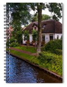 Along The Canal. Giethoorn. Netherland Spiral Notebook