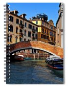 Along The Canals Of Venice Spiral Notebook