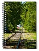 Along The Rails Spiral Notebook