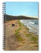 Along The Shore In Hyde Hole Beach Rhode Island Spiral Notebook