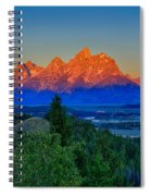 Alpenglow Across The Valley Spiral Notebook