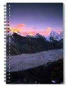 Alpenglow Lights The Summit Of Mt Spiral Notebook
