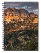 Alpenglow On Brokeoff Mountain Spiral Notebook