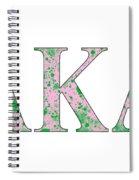 Alpha Kappa Alpha - White Spiral Notebook