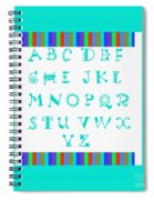 Alphabet Blue Spiral Notebook