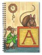 Alphabet Mice Spiral Notebook
