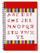Alphabet Red Spiral Notebook