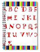 Alphabet With Multicolor Spiral Notebook