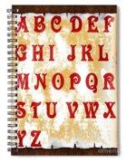 Alphabet With Scroll 2 Spiral Notebook