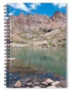 Alpine Lake Beneath Sunlight Peak Spiral Notebook