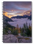 Alpine Lakes Morning Cloudscape Spiral Notebook
