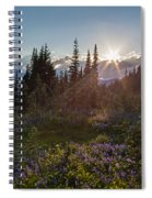 Alpine Meadow Sunrays Spiral Notebook