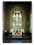 Altar And Stained Glass Window Nether Wallop Spiral Notebook