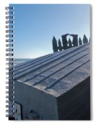 Aluminum Fishing Boat And Boots Drying On Fence Spiral Notebook