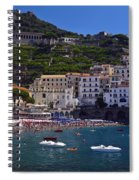 Amalfi Beach And Town Spiral Notebook