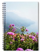Amalfi Coast View From Ravello Italy  Spiral Notebook
