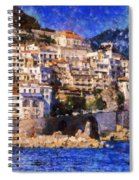 Amalfi Town In Italy Spiral Notebook