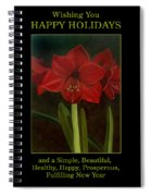 Amaryllis Flower Holiday Card Spiral Notebook
