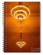 Amazing Antique Chandelier - Grand Central Station New York Spiral Notebook