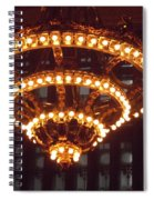 Amazing Art Nouveau Antique Chandelier - Grand Central Station New York Spiral Notebook