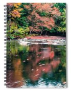 Amazing Fall Foliage Along A River In New England Spiral Notebook