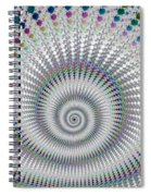 Amazing Fractal Spiral With Great Depth Spiral Notebook
