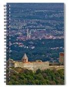 Amazing Medvedgrad Castle And Croatian Capital Zagreb Spiral Notebook