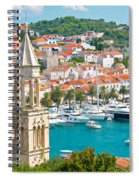 Amazing Town Of Hvar Harbor Spiral Notebook