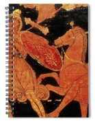 Amazon Warrior Woman Fights Greek Spiral Notebook