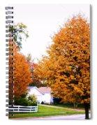 Amber Autumn Twins  Spiral Notebook