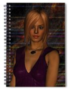 Amber Digital Portait Spiral Notebook