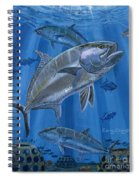 Amberjack In0029 Spiral Notebook