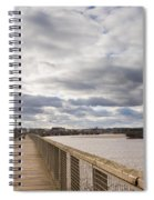 Amble Harbour And Village Spiral Notebook
