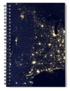 America At Night Spiral Notebook