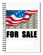 America For Sale Spiral Notebook