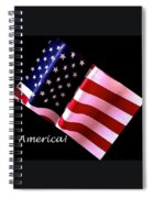 America Greeting Card Spiral Notebook