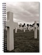 American Cemetery In Normandy  Spiral Notebook