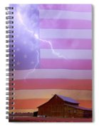 American Country Storm Spiral Notebook
