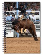 American Cowboy Riding Bucking Rodeo Bronc I Spiral Notebook