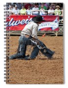 American Cowboy Thrown From A  Bucking Rodeo Bronc Spiral Notebook